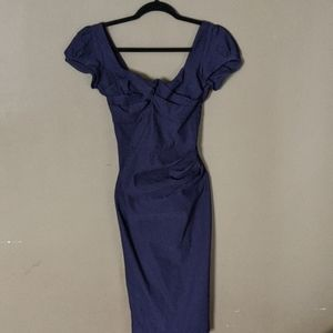 Navy Pinup Stop Staring Dress size S